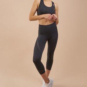 Gymshark charcoal seamless cropped leggings